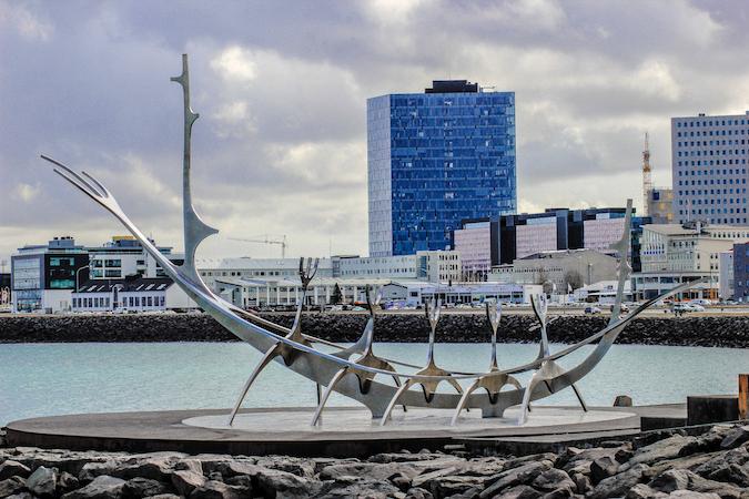 Iceland viking ship in Reykjavik