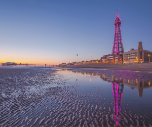 Blackpool tower at sunset