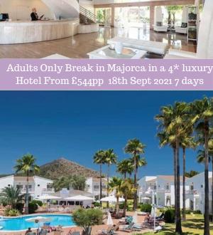 Fancy Slipping away in September for an ADULTS ONLY Break in Majorca in a 4* luxury Hotel From £544pp?